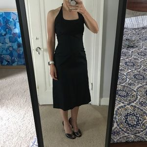 Timeless elegance - black halter dress